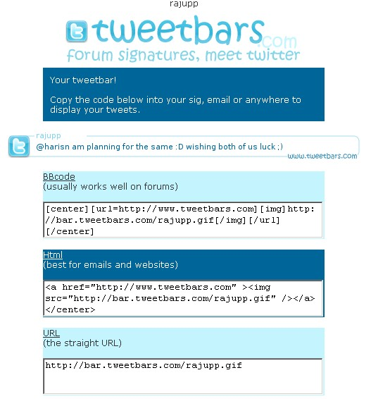 [Twitter Tip] Twitter Signatures for Forums