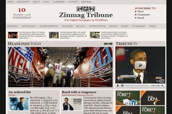 2008 12 27 234351 Free WordPress News Themes to download