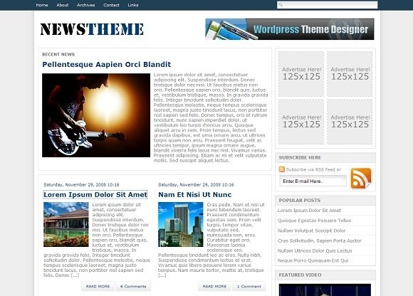 2009 01 16 104107 Free WordPress News Themes to download