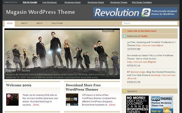 2009 01 24 183903 Free WordPress News Themes to download