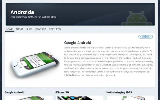 androida 560x351 Free WordPress News Themes to download