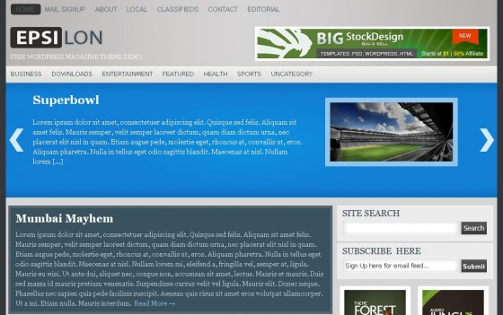 epsilon 560x351 Free WordPress News Themes to download