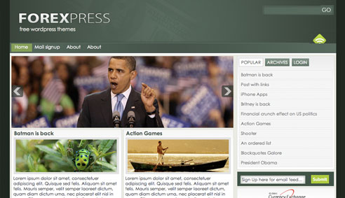 forexpress Free WordPress News Themes to download