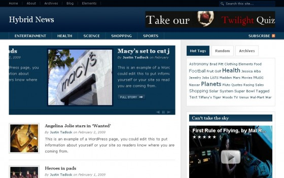 hybrid news 560x351 Free WordPress News Themes to download