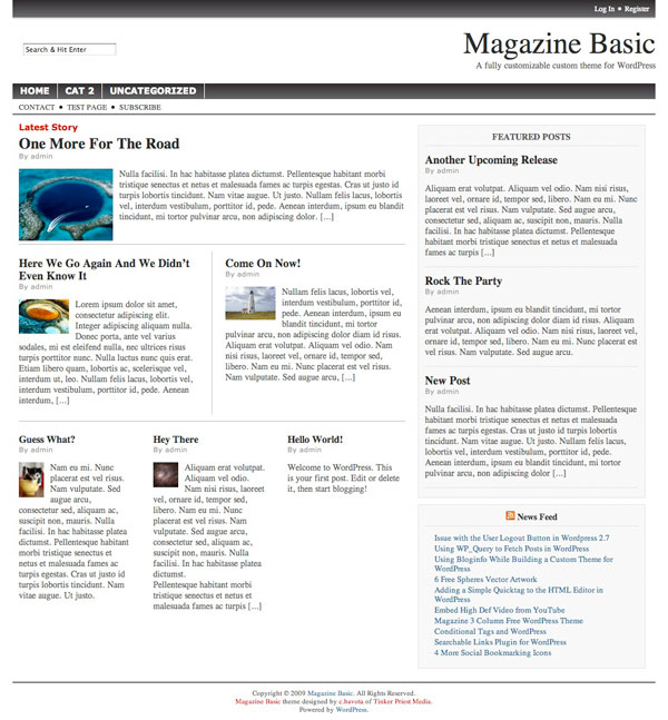 magazine basic fat Free WordPress News Themes to download