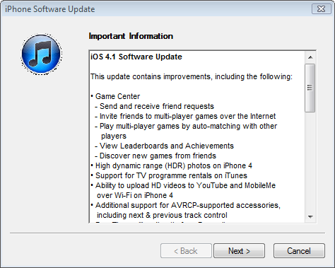 , Download iOS 4.1 Firmware Update for iPhone & iPod Touch